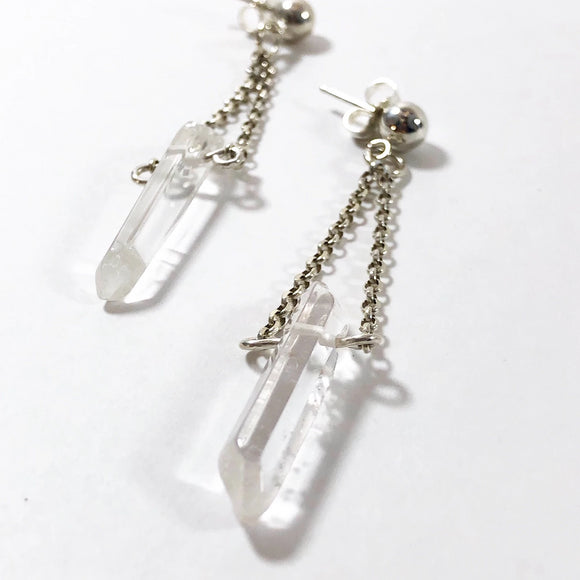 Crystal Point Stud Earrings