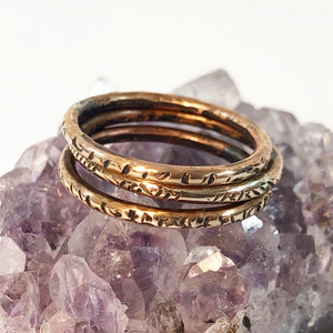 Abstract Pattern Stacking Rings