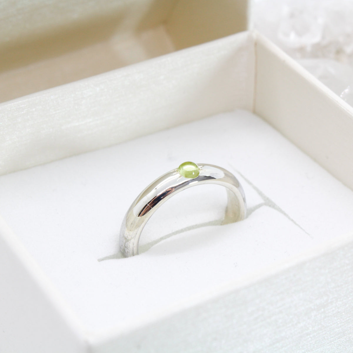 Minimal Birthstone Solitaire Ring