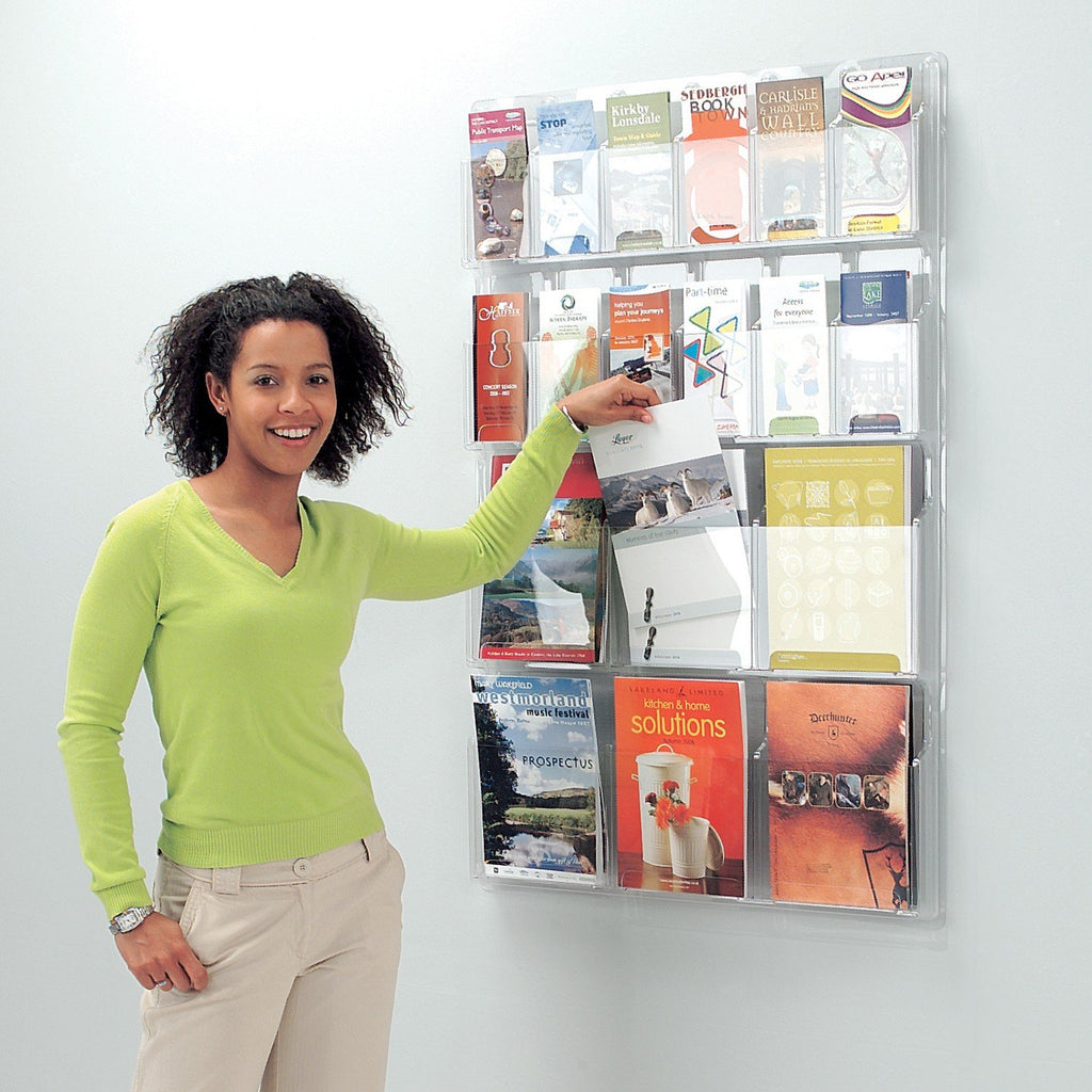 All Clear Literature Display - Wall Mounted or Freestanding