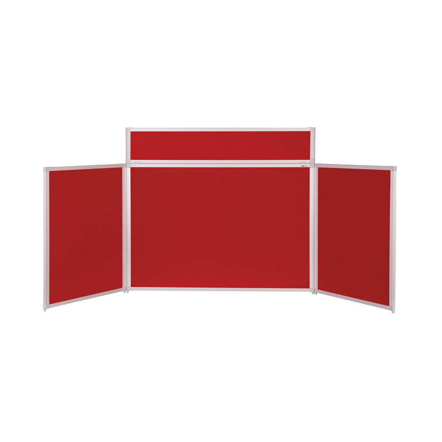 BusyFold® Heavy Duty Tabletop Display - 900mm x 2000mm - Red