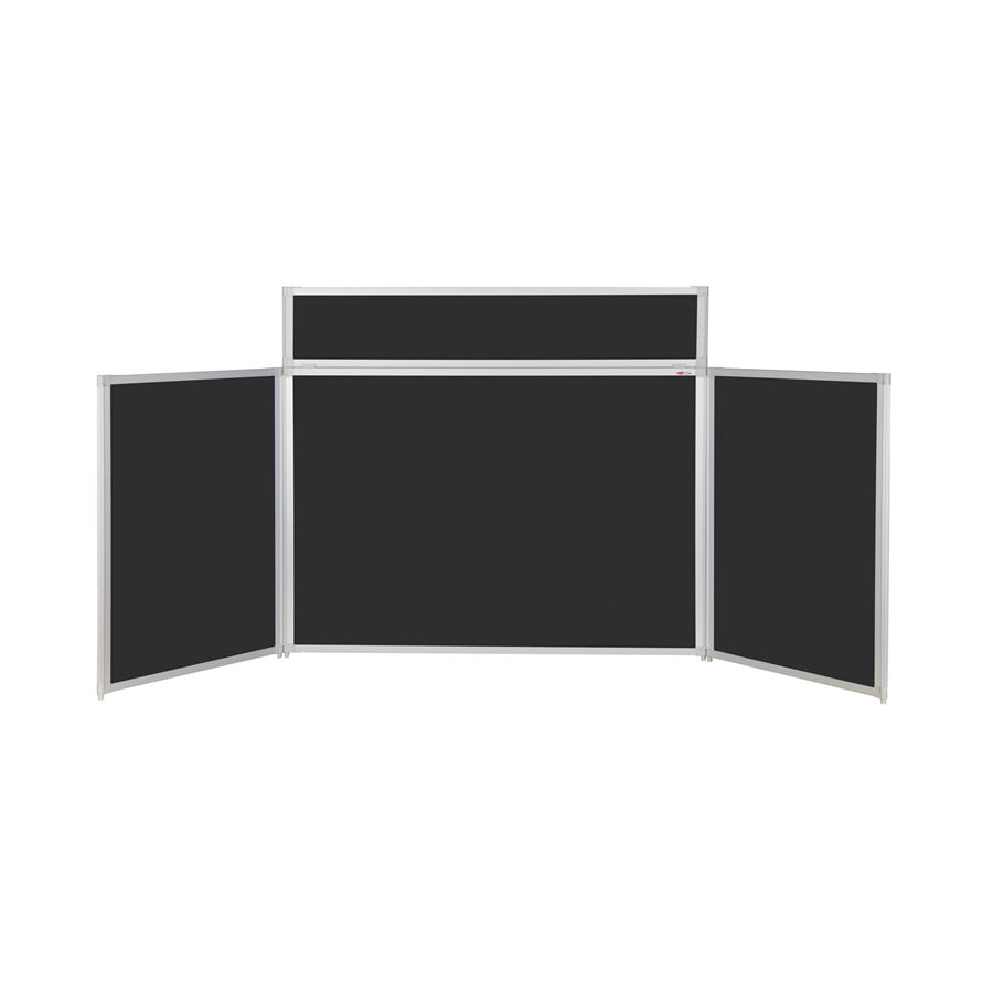BusyFold® Heavy Duty Tabletop Display - 900mm x 2000mm - Black