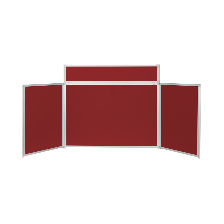 BusyFold® Heavy Duty Tabletop Display - 900mm x 2000mm - Burgundy
