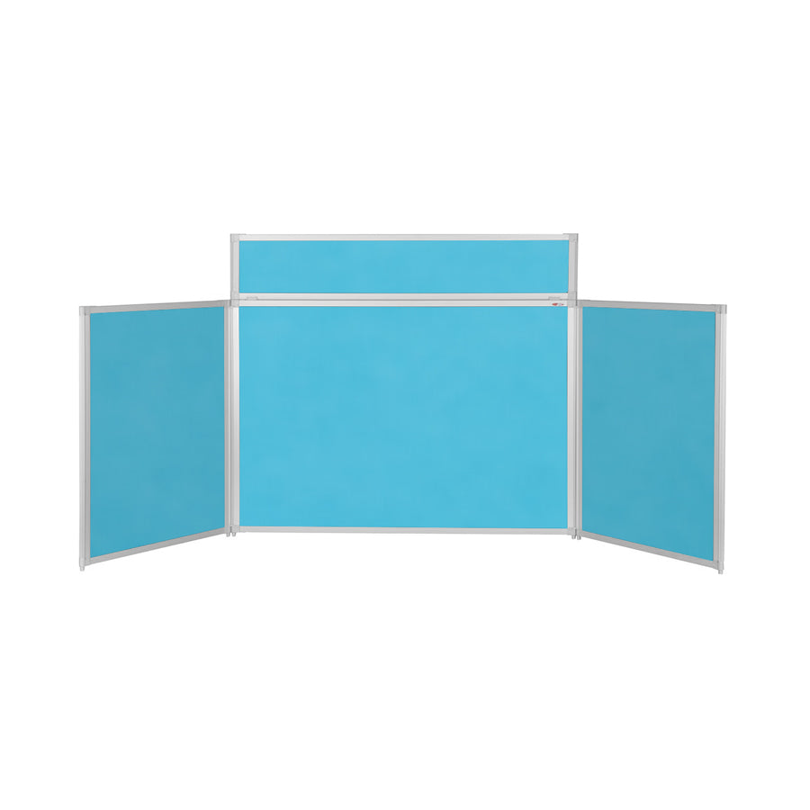 BusyFold® Heavy Duty Tabletop Display - 900mm x 2000mm - Cyan