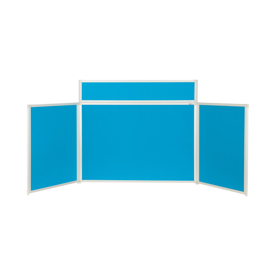 BusyFold® Heavy Duty Tabletop Display - 900mm x 2000mm - Light Blue
