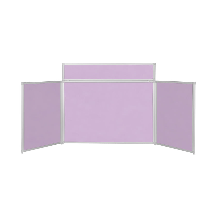 BusyFold® Heavy Duty Tabletop Display - 900mm x 2000mm - Lilac