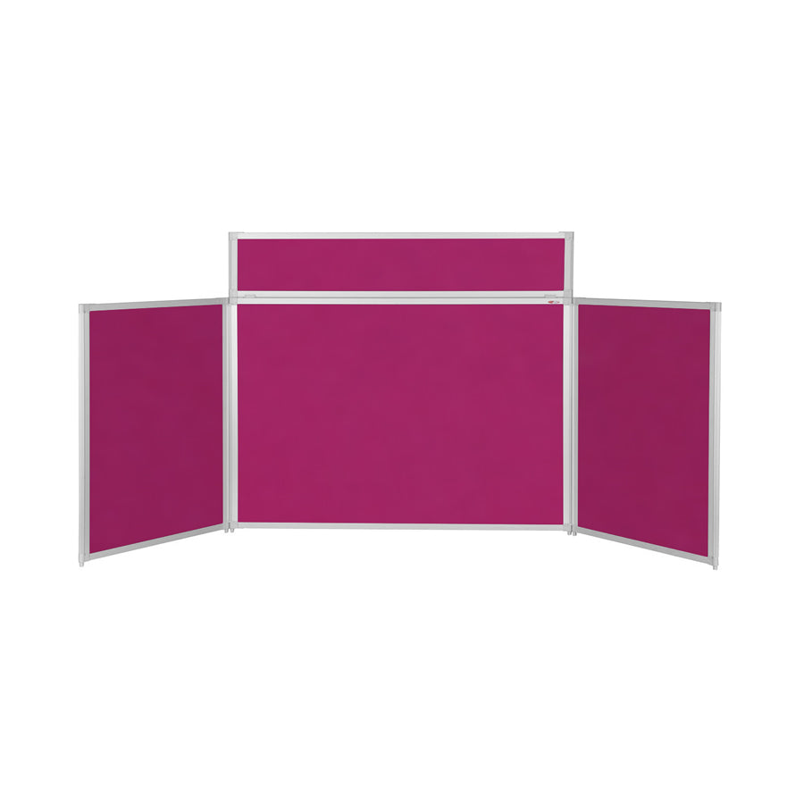 BusyFold® Heavy Duty Tabletop Display - 900mm x 2000mm - Magenta