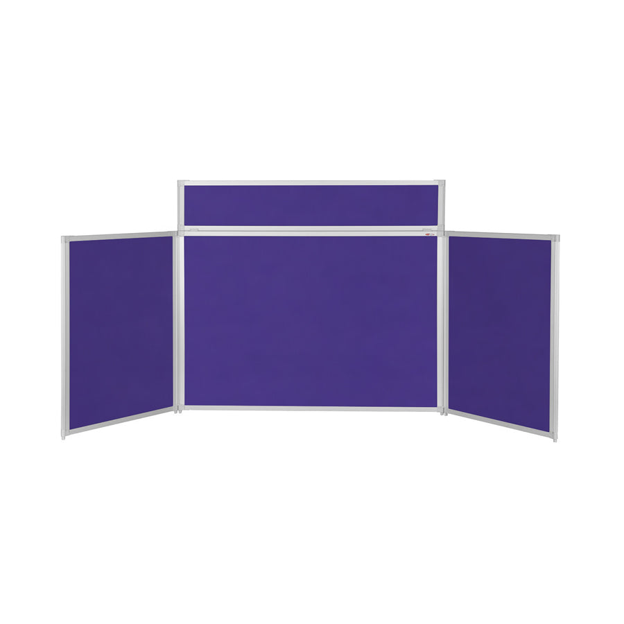 BusyFold® Heavy Duty Tabletop Display - 900mm x 2000mm - Purple