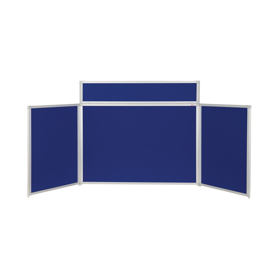 BusyFold® Heavy Duty Tabletop Display - 900mm x 2000mm - Royal Blue