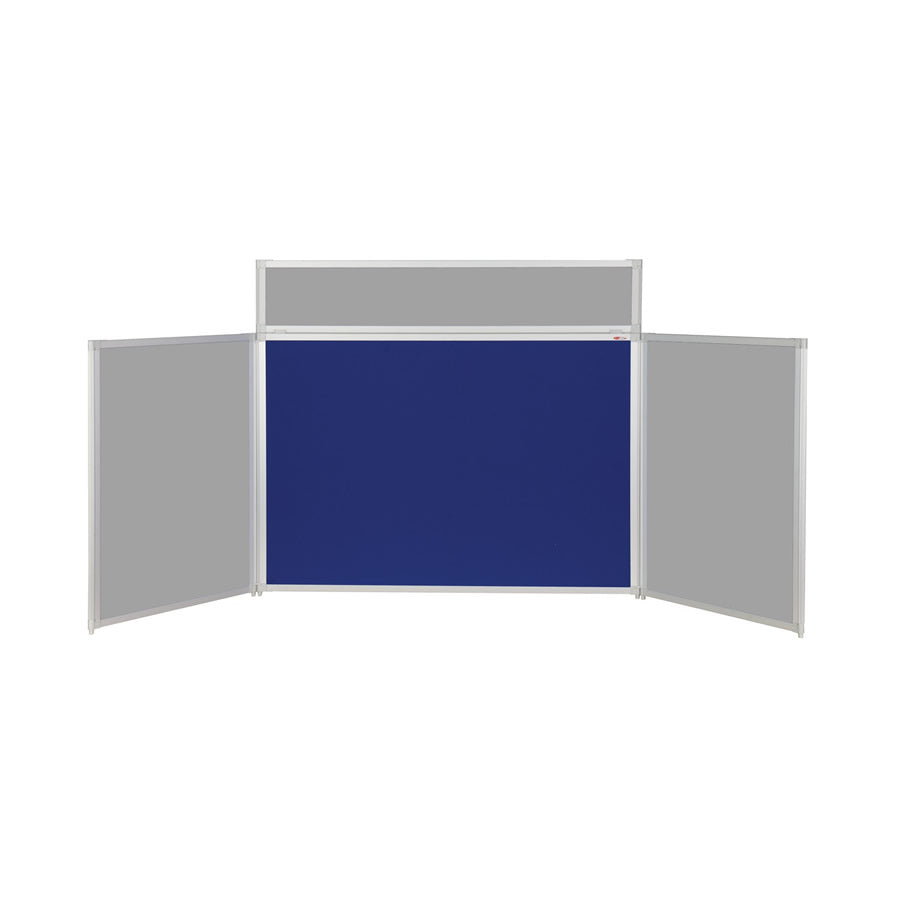 BusyFold® Heavy Duty Tabletop Display - 900mm x 2000mm - Twin Colour Blue/Grey