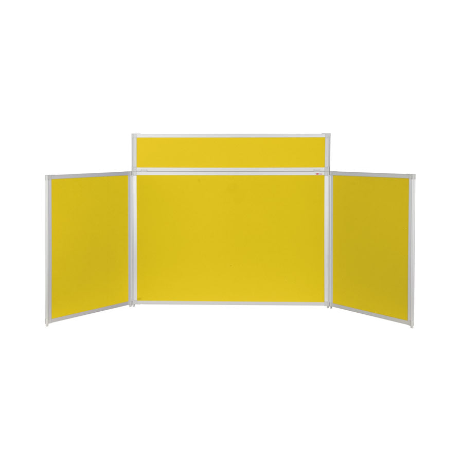 BusyFold® Heavy Duty Tabletop Display - 900mm x 2000mm - Yellow