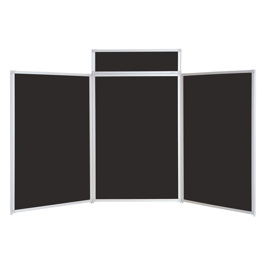 BusyFold® Heavy Duty Tabletop Display - 1200mm x 2100mm - Black