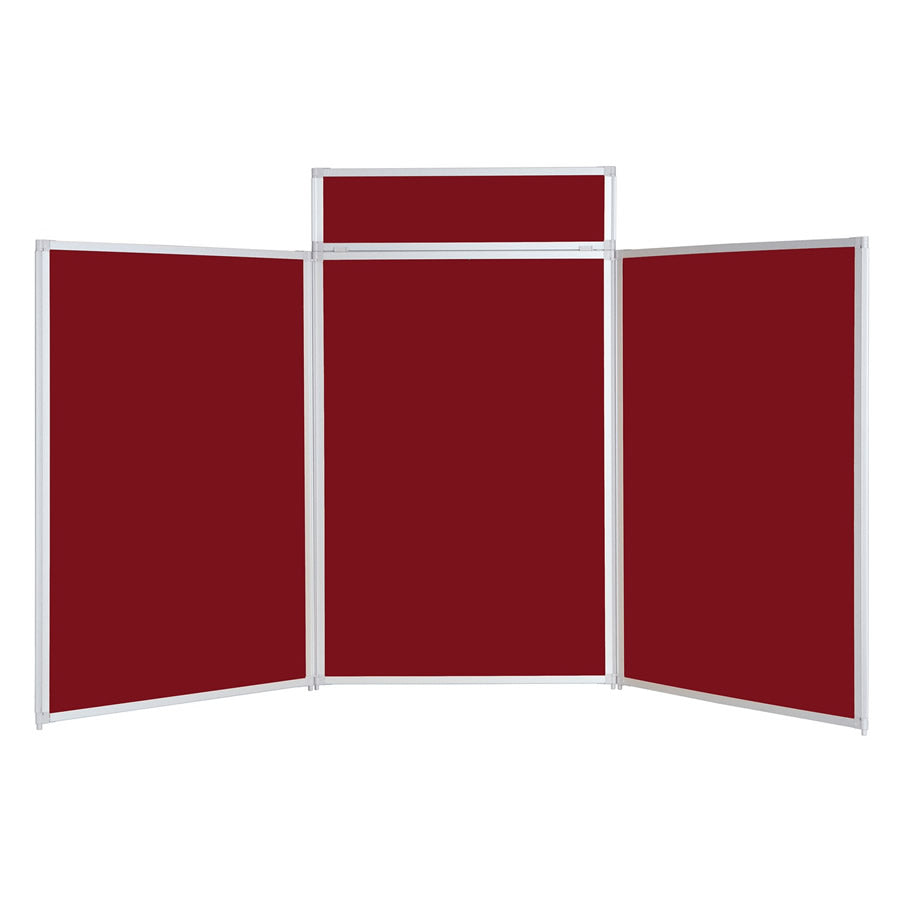 BusyFold® Heavy Duty Tabletop Display - 1200mm x 2100mm - Burgundy