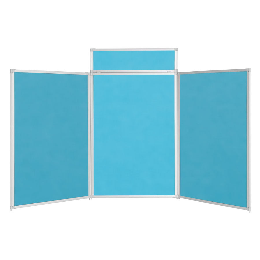 BusyFold® Heavy Duty Tabletop Display - 1200mm x 2100mm - Cyan
