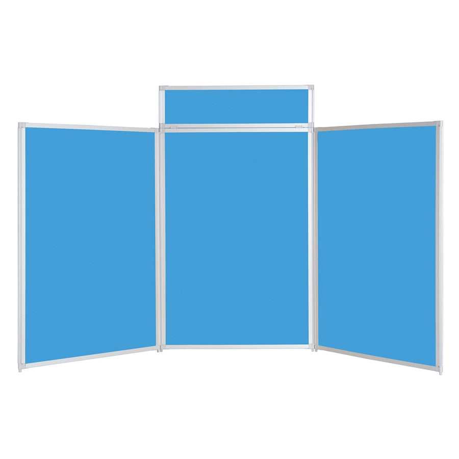 BusyFold® Heavy Duty Tabletop Display - 1200mm x 2100mm - Light Blue