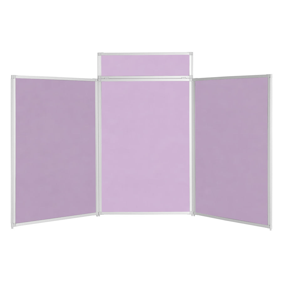 BusyFold® Heavy Duty Tabletop Display - 1200mm x 2100mm - Lilac
