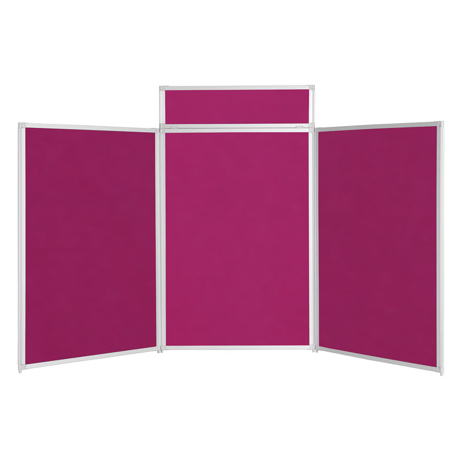 BusyFold® Heavy Duty Tabletop Display - 1200mm x 2100mm - Magenta