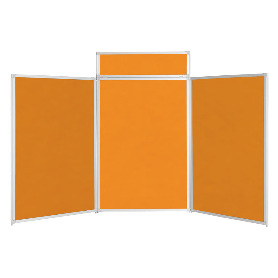 BusyFold® Heavy Duty Tabletop Display - 1200mm x 2100mm - Orange