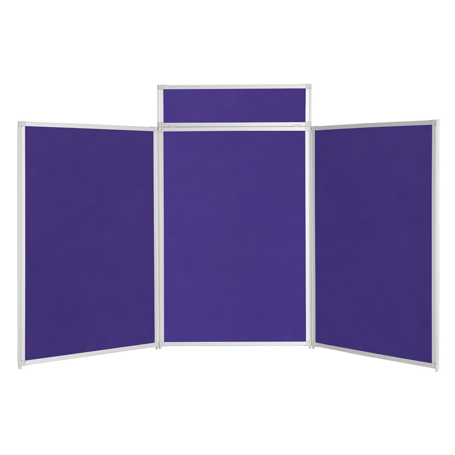 BusyFold® Heavy Duty Tabletop Display - 1200mm x 2100mm - Purple