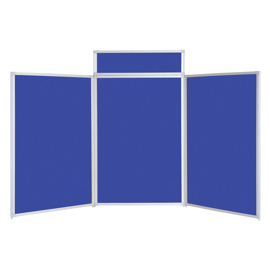 BusyFold® Heavy Duty Tabletop Display - 1200mm x 2100mm - Royal Blue