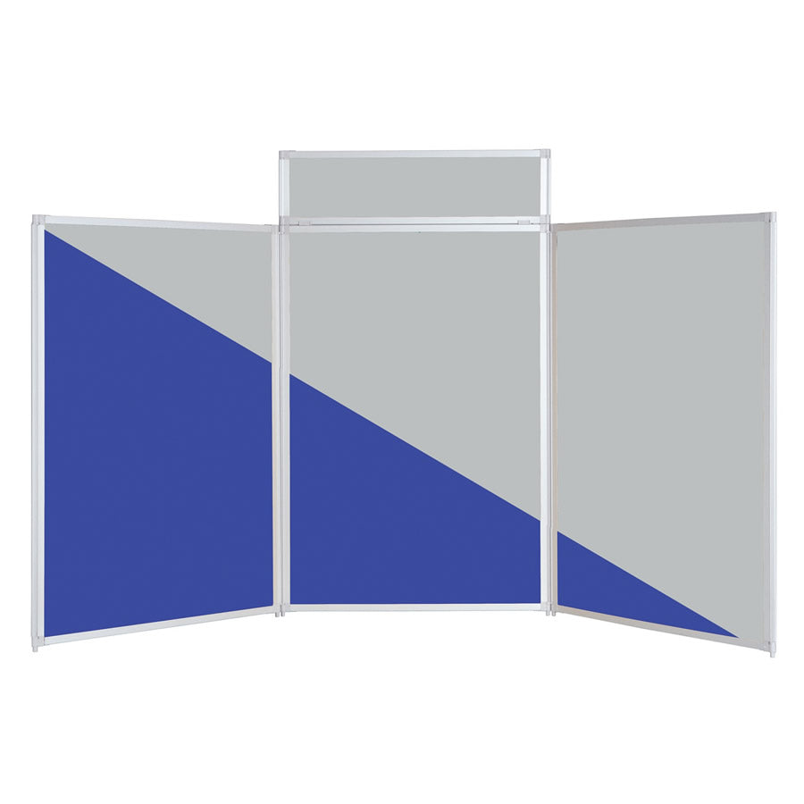 BusyFold® Heavy Duty Tabletop Display - 1200mm x 2100mm - Twin Colour Blue/Grey