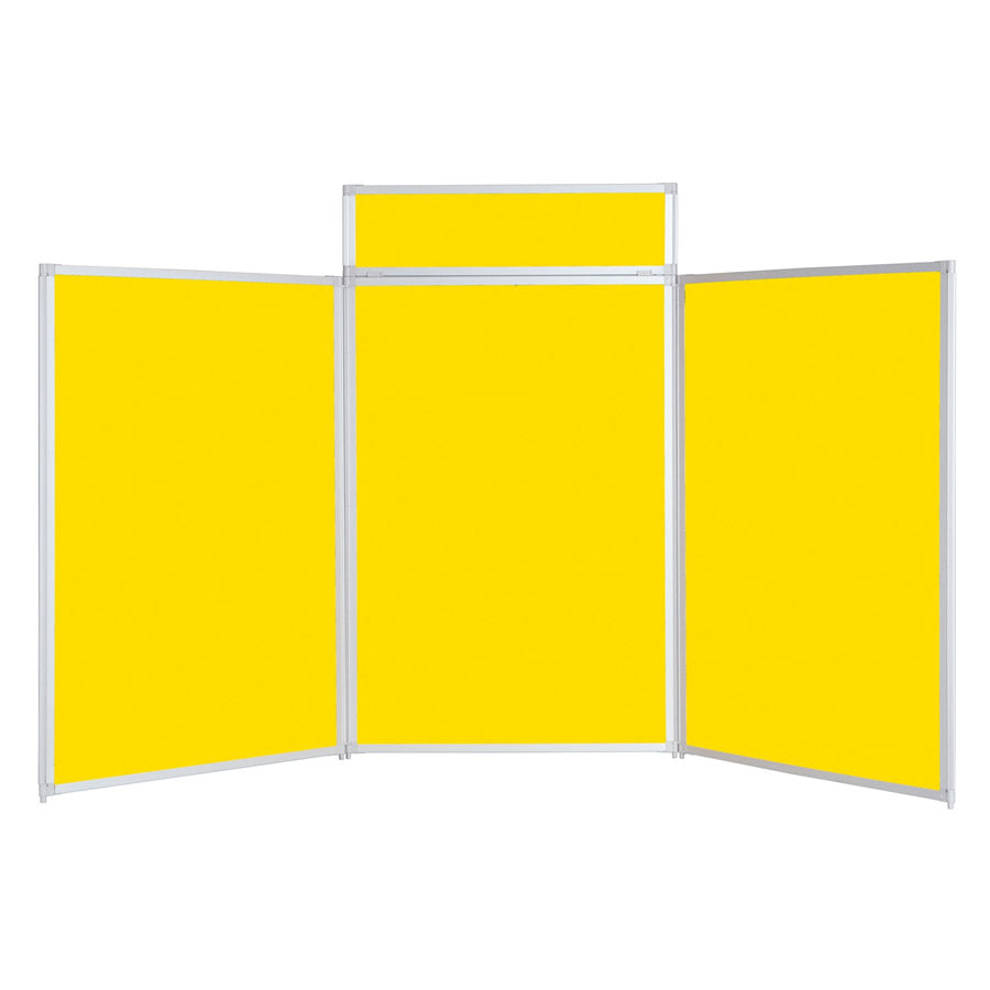 BusyFold® Heavy Duty Tabletop Display - 1200mm x 2100mm - Yellow
