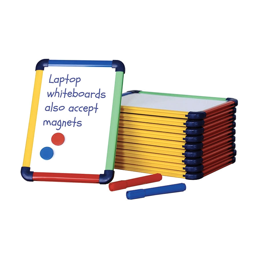 Coloured Framed Magnetic Laptop Whiteboards - Pack of 10
