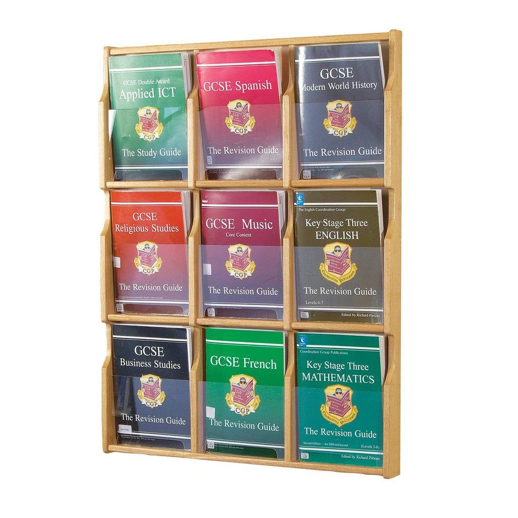 Oak Wall Mounted Literature Dispenser