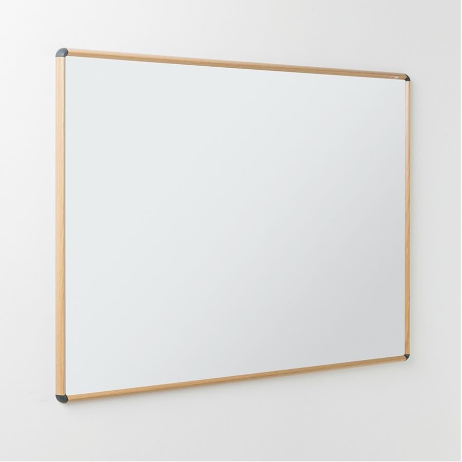 Shield Design Wood Effect Whiteboard