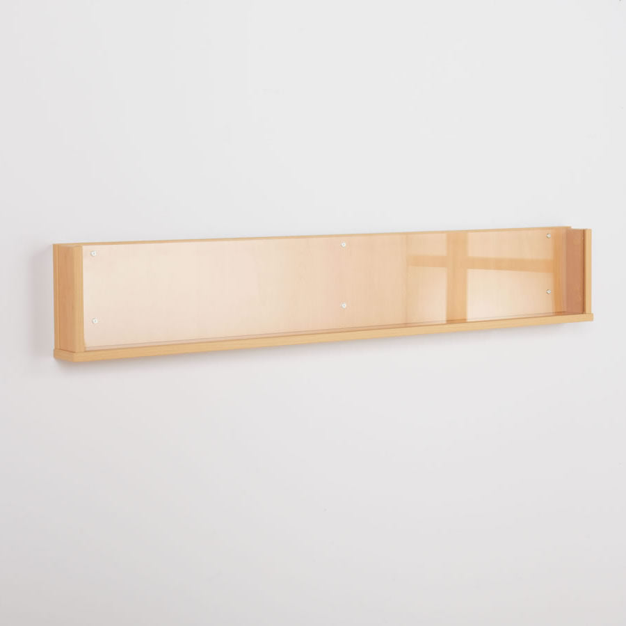 Shelf Style Wall Mounted Literature Display - Natural Wood