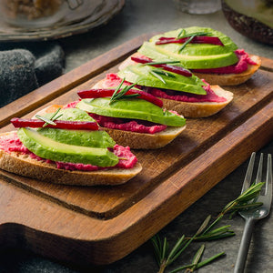 Beetroot Hummus With Avocado (V)