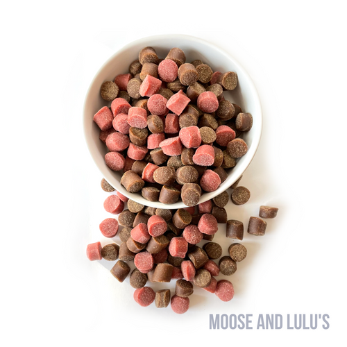 Peanut Butter & Jelly Training Treats - Moose and Lulu's