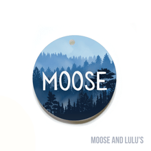 Load image into Gallery viewer, Red and Navy Pearl Custom Dog Tag - Moose and Lulu's