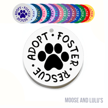 Load image into Gallery viewer, Lime Green and Purple Custom Dog Tag