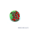 Watermelon and Green Pearl Small Dog Tag - Moose and Lulu's