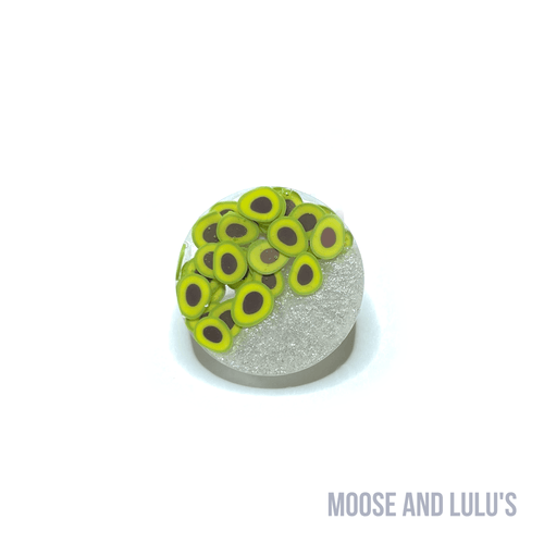 Avocados and Pearl Small Dog Tag - Moose and Lulu's