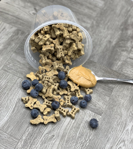 Peanut Butter & Blueberry Training Treats - Moose and Lulu's