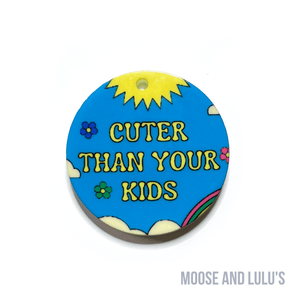 Red, Yellow, Blue Glitter Dog Tag - Moose and Lulu's