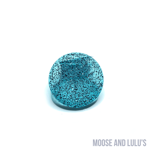 Blue and Black Glitter Small Dog Tag - Moose and Lulu's
