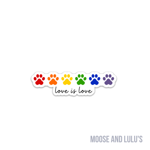 Love is Love Rainbow Sticker - Moose and Lulu's