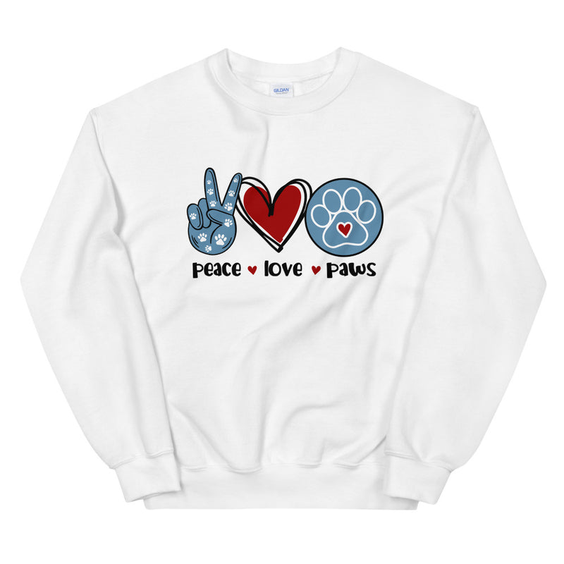 RWB Peace Love Paws Sweatshirt - Moose and Lulu's