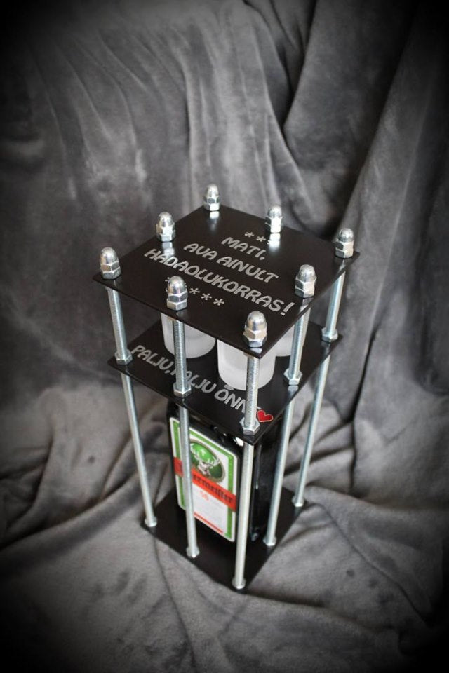 Bottle In The Cage - Best Christmas Present - Custom Text, Color, Size - Fast EU Delivery