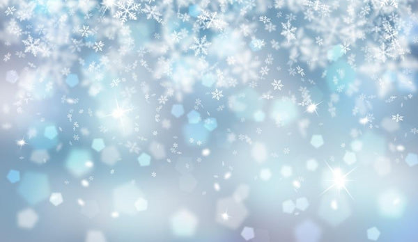 Laeacco Winter Snowflake Light Bokeh New Year Baby Photography Backgrounds Customized Photographic Backdrops For Photo Studio