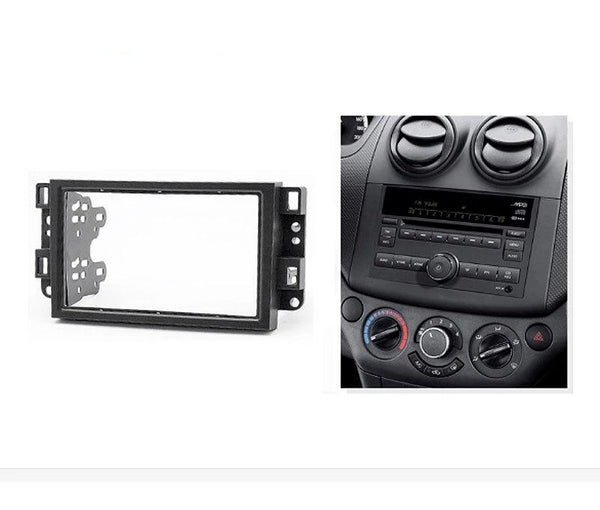 2 Din car radio Fascia For Chevrolet Aveo Lova Captiva Gentra Radio Stereo Panel Dash Mounting Installation Trim Kit Frame Bezel