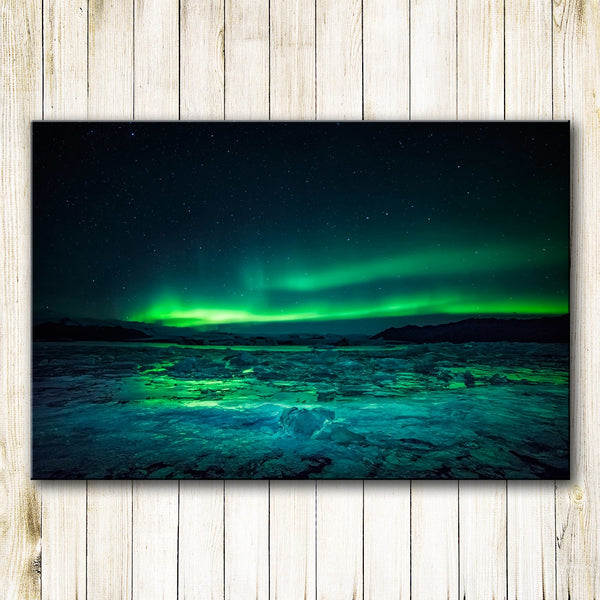 HDARTISAN Printing Oil Painting Wall painting Northern Lights Wall Art Picture For Living Room Home Decor