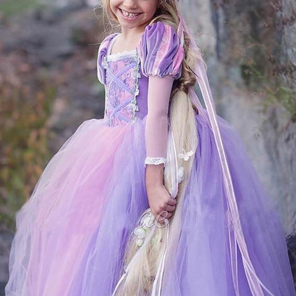 Kids Girls Princess Sofia Rapunzel Dresses Gown Long Party Dress Children Clothing Christmas Cosplay Costume Masquerade 4 10yr