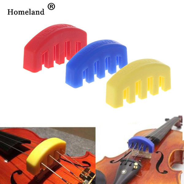 Violin Accessories Rubber Violin Mute Durable Rubber Practice Mute Silencer Volume Control For Violin Strings Acoustic