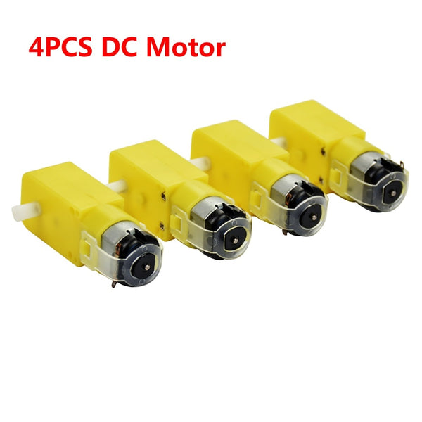 (4 pieces/lot) Hi-Q DC 3V-6V DC TT Motor  Gear Motor Strong magnetic  Prevent Interference for Arduino Smart Car /Robot car