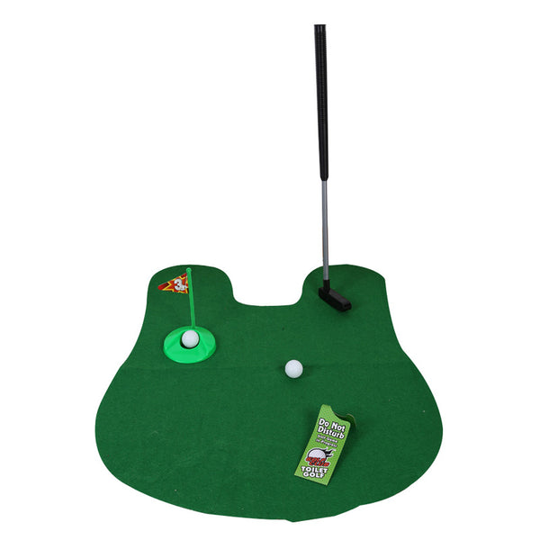 Toilet Mini Golf Game Set Potty Putter Toilet Golf Putting Funny Novelty Game Golf Training Euipment Accessories indoor Golf Toy