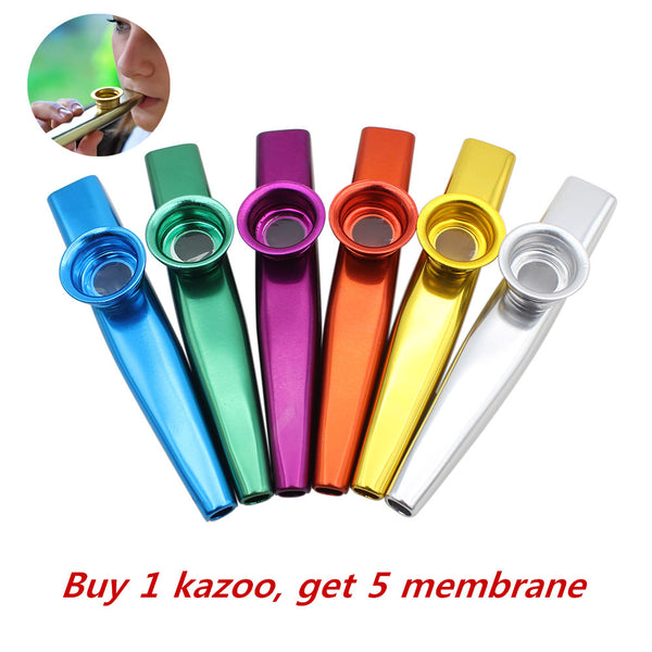 Simple Design Lightweight Kazoo Aluminum Alloy Metal For Guitar Instrument Music Lovers Instrument 12*2.5cm 6 Colors Optional